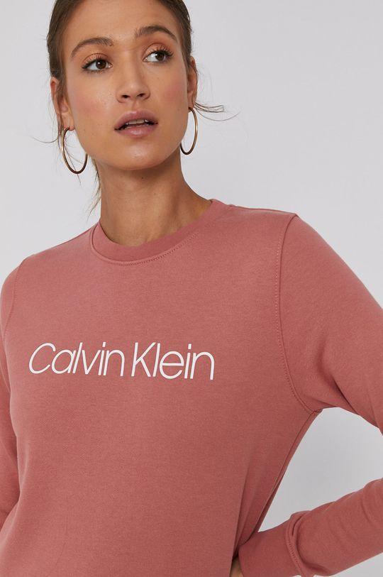 růžová Calvin Klein - Bavlněná mikina