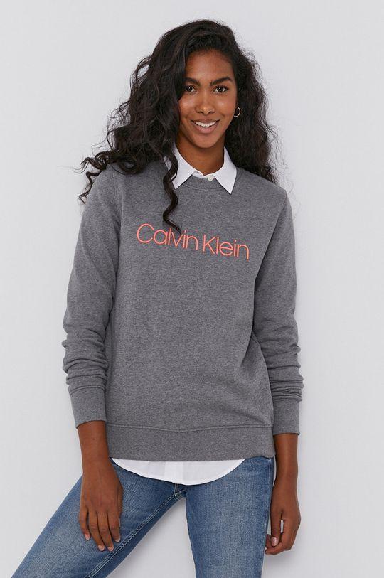 szary Calvin Klein - Bluza bawełniana Damski