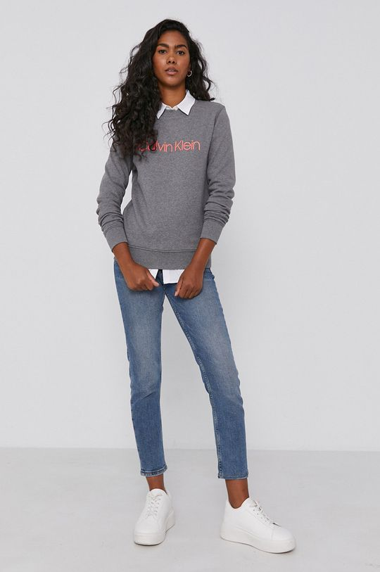 Calvin Klein - Bluza bawełniana szary