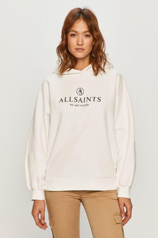 biela AllSaints - Bavlnená mikina Dámsky