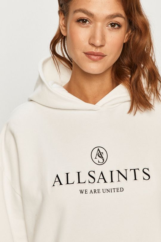 biela AllSaints - Bavlnená mikina
