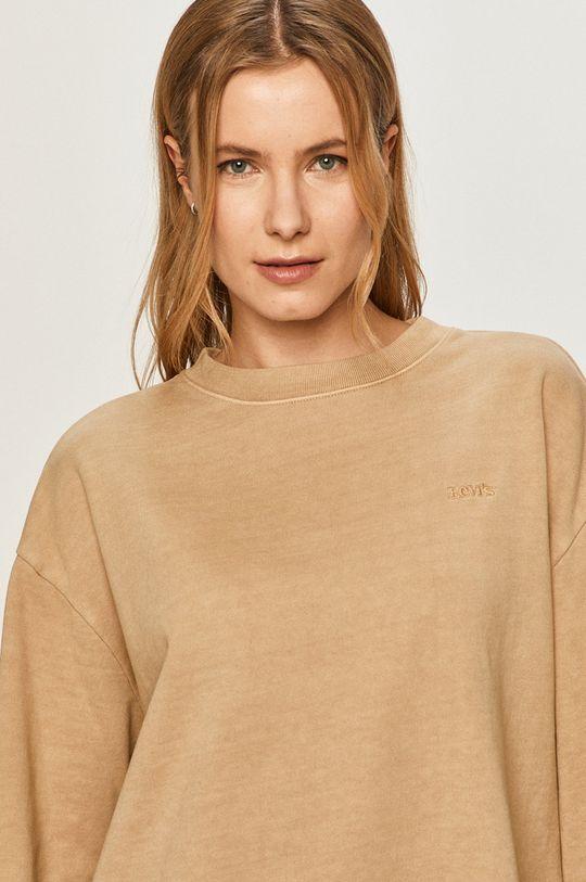 piaskowy Levi's - Bluza bawełniana