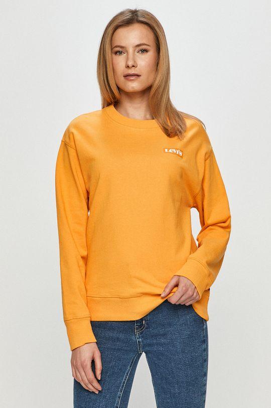 oranžová Levi's - Bavlnená mikina Dámsky
