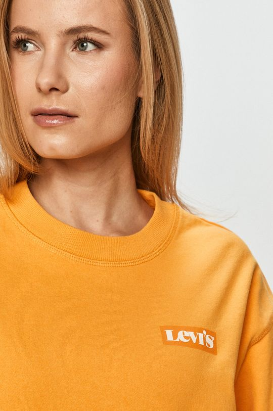 oranžová Levi's - Bavlnená mikina