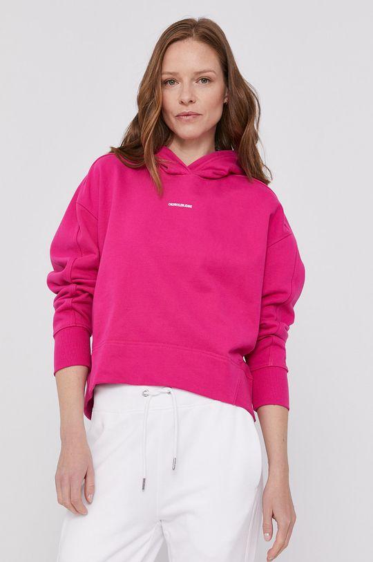 ostrá růžová Calvin Klein Jeans - Mikina Dámský