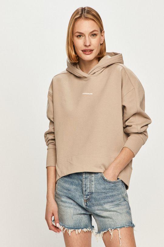 béžová Calvin Klein Jeans - Mikina Dámský