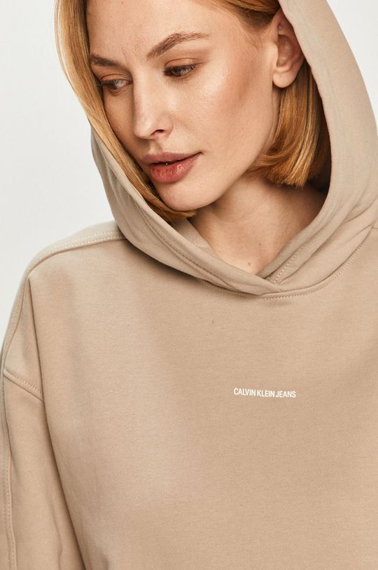 béžová Calvin Klein Jeans - Mikina