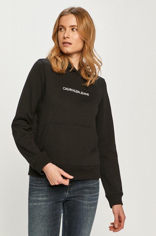 černá Calvin Klein Jeans - Bavlněná mikina Dámský