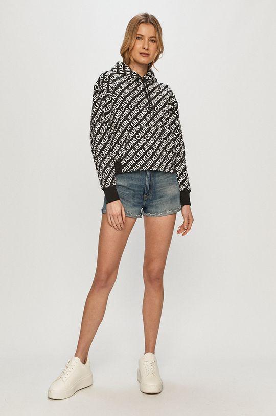 čierna Calvin Klein Jeans - Bavlnená mikina Dámsky
