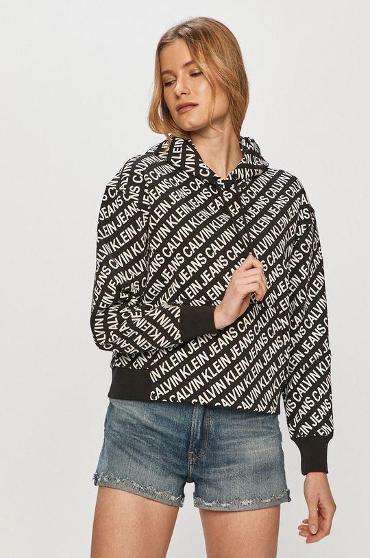 Calvin Klein Jeans - Bavlnená mikina čierna