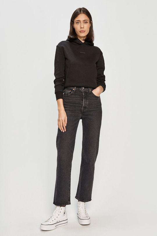 černá Calvin Klein Jeans - Bavlněná mikina