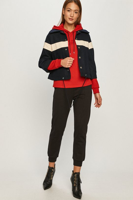 Hugo - Bluza bawełniana czerwony
