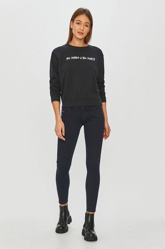 Pinko - Bluza bawełniana czarny