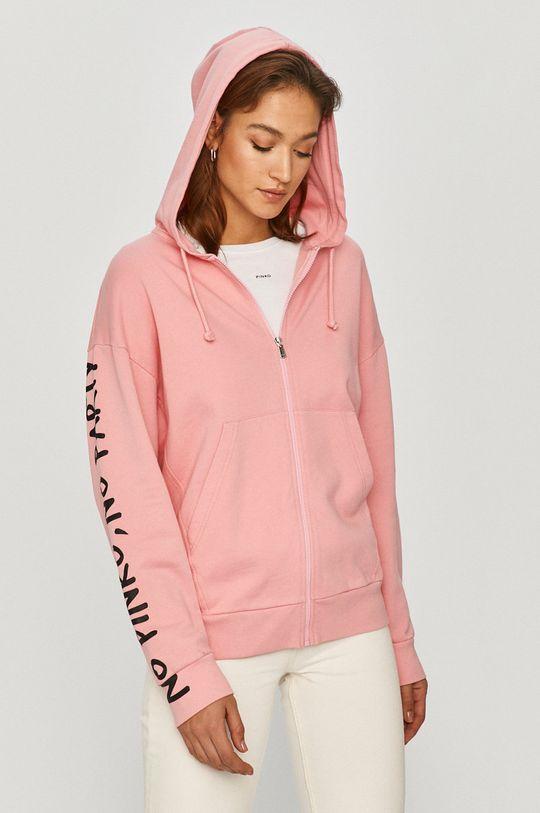 różowy Pinko - Bluza bawełniana Damski