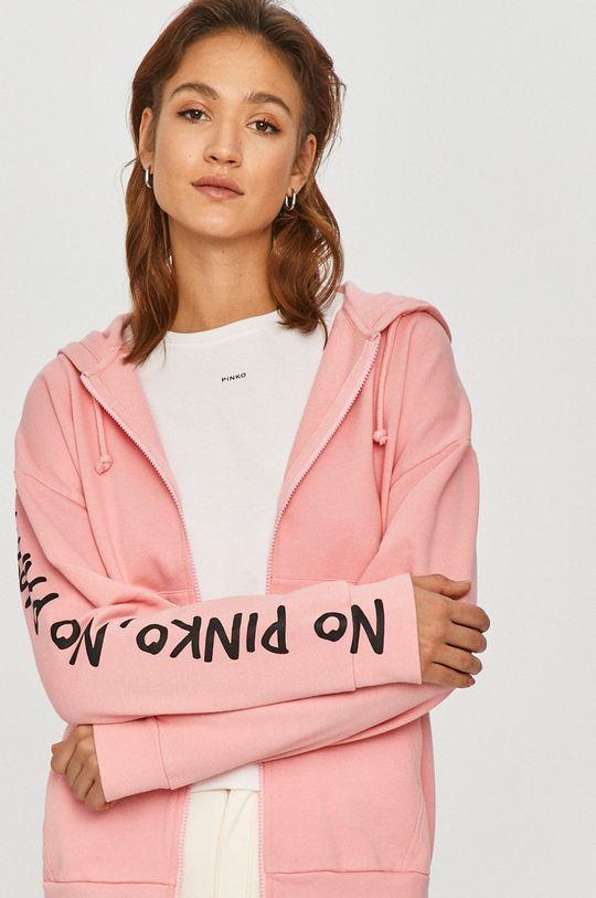 różowy Pinko - Bluza bawełniana
