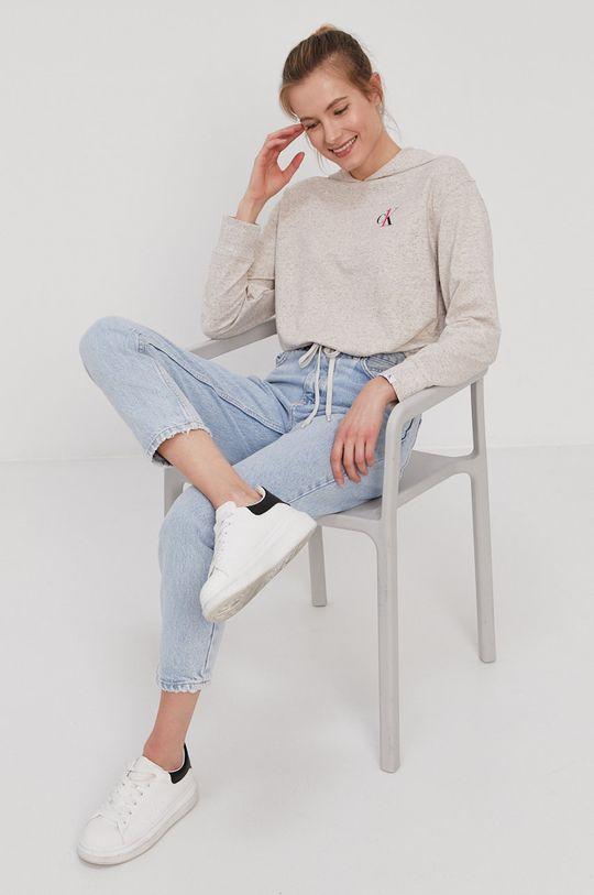 Calvin Klein Underwear - Bluza piżamowa piaskowy