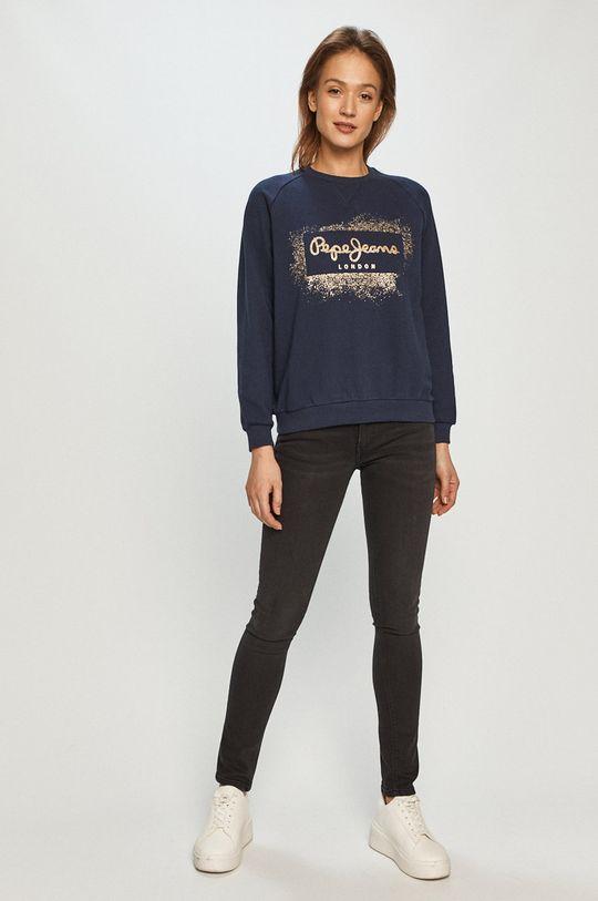 Pepe Jeans - Bavlněná mikina Andrea námořnická modř
