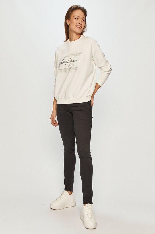 Pepe Jeans - Bavlněná mikina Andrea bílá
