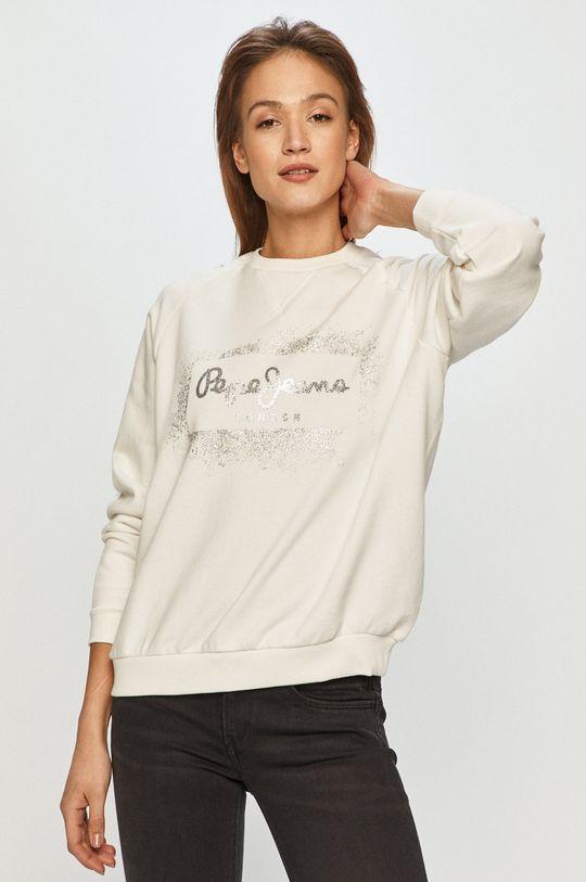 bílá Pepe Jeans - Bavlněná mikina Andrea