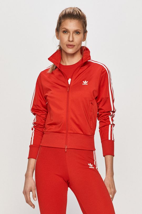 červená adidas Originals - Mikina Dámsky