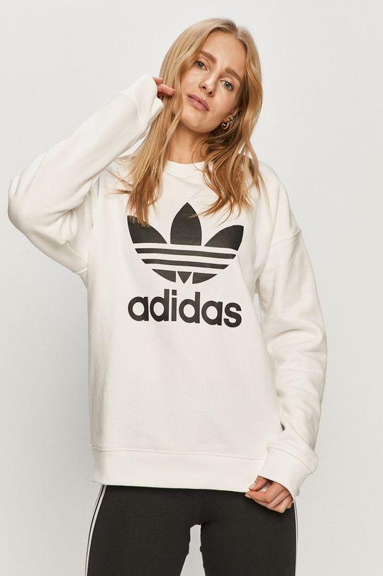 biały adidas Originals - Bluza bawełniana Damski