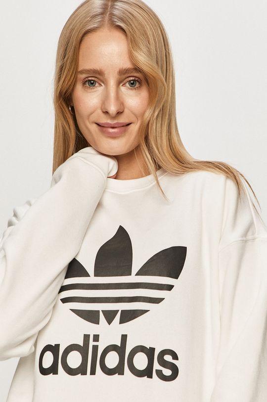 biały adidas Originals - Bluza bawełniana