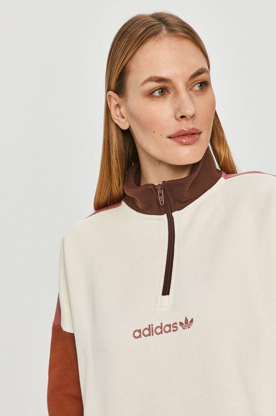biały adidas Originals - Bluza