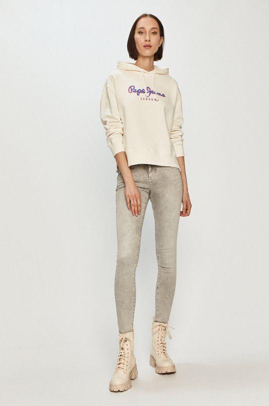 Pepe Jeans - Bavlněná mikina Brigitte bílá