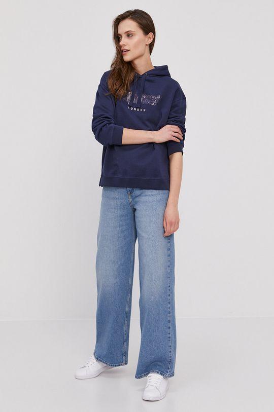 Pepe Jeans - Bavlněná mikina Adele námořnická modř