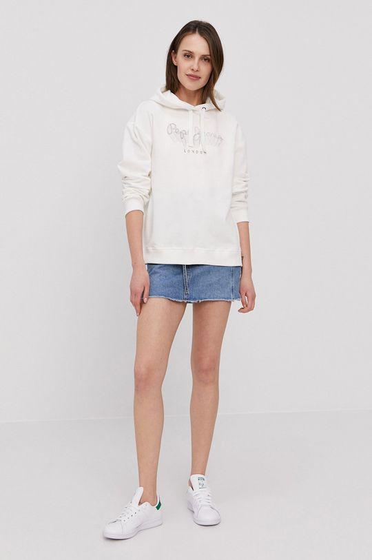 Pepe Jeans - Bavlněná mikina Adele bílá