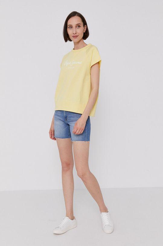 Pepe Jeans - T-shirt GALA żółty