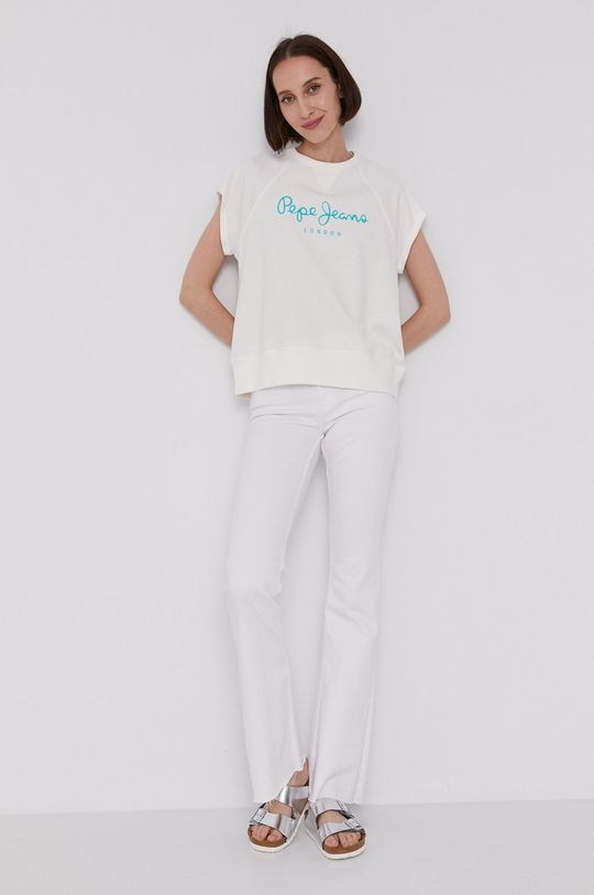 Pepe Jeans - T-shirt GALA biały