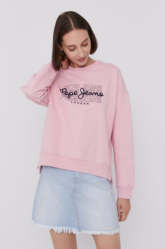 różowy Pepe Jeans - Bluza BERE Damski