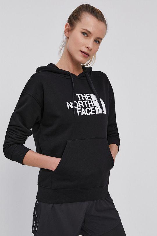 čierna The North Face - Bavlnená mikina Dámsky