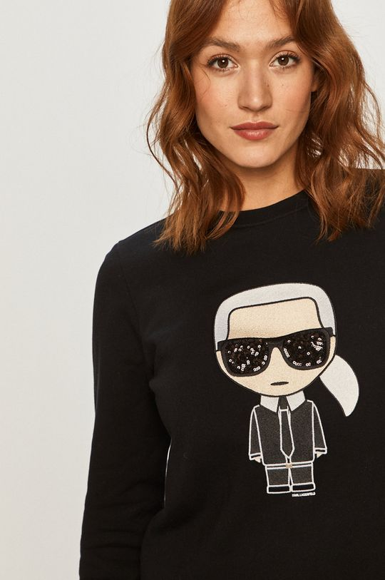 czarny Karl Lagerfeld - Bluza bawełniana