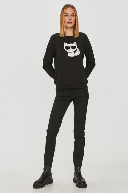 Karl Lagerfeld - Mikina Ikonik Choupette čierna