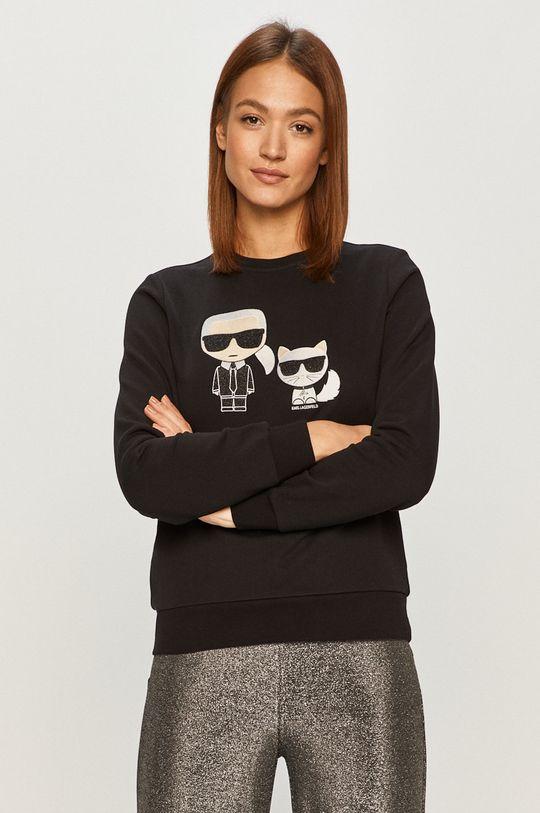czarny Karl Lagerfeld - Bluza bawełniana Damski