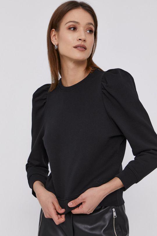 čierna Karl Lagerfeld - Bavlnená mikina Dámsky