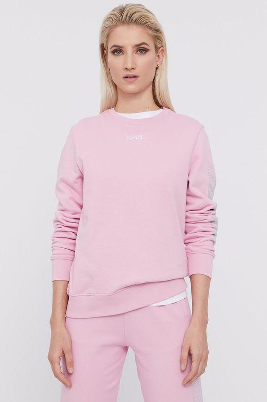 ružová Karl Lagerfeld - Bavlnená mikina Dámsky