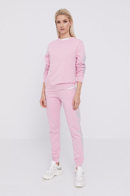 Karl Lagerfeld - Bavlnená mikina ružová