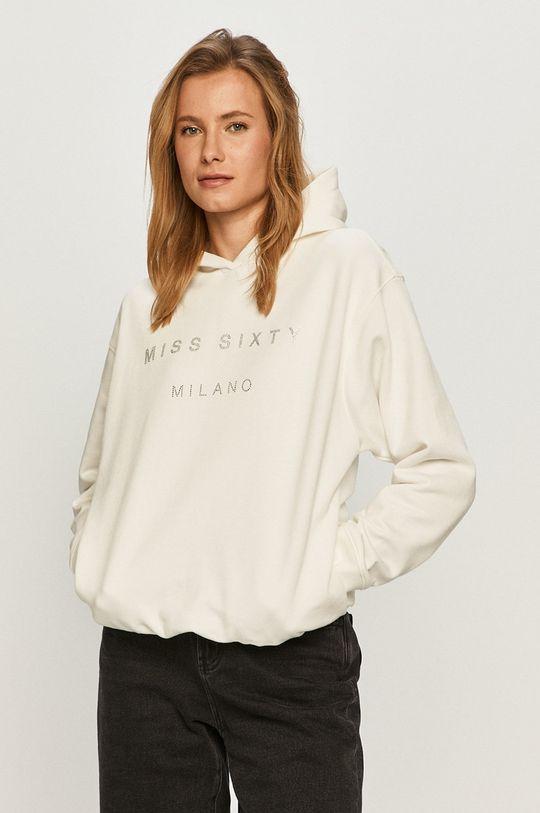 biały Miss Sixty - Bluza bawełniana Damski