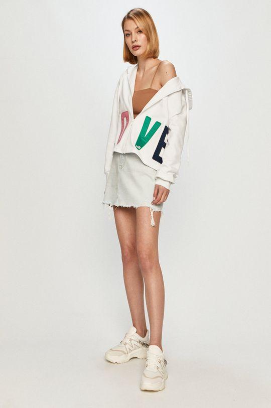 Love Moschino - Bavlněná mikina bílá