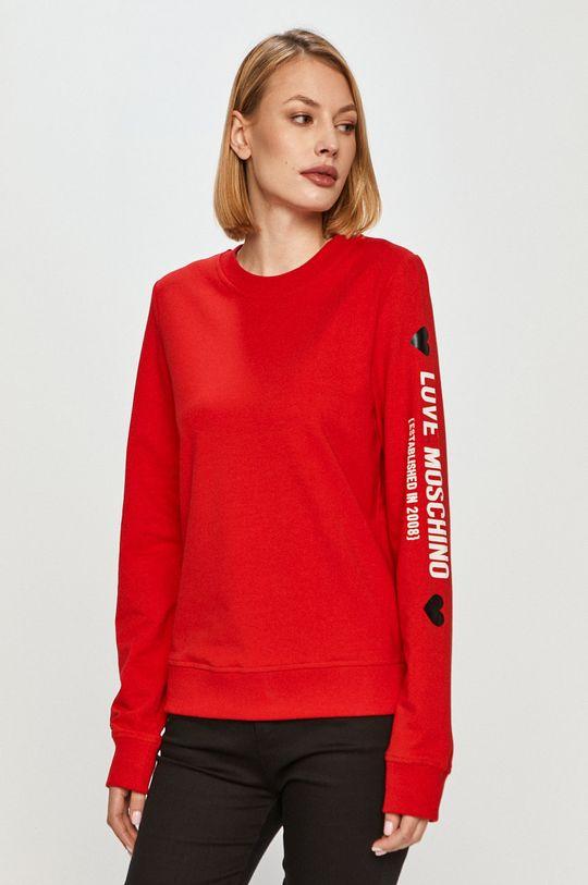 červená Love Moschino - Mikina Dámský
