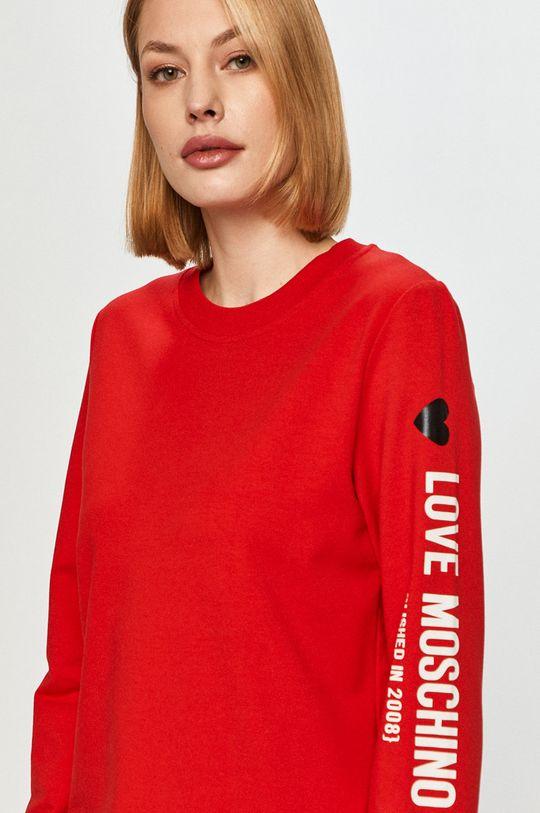 červená Love Moschino - Mikina