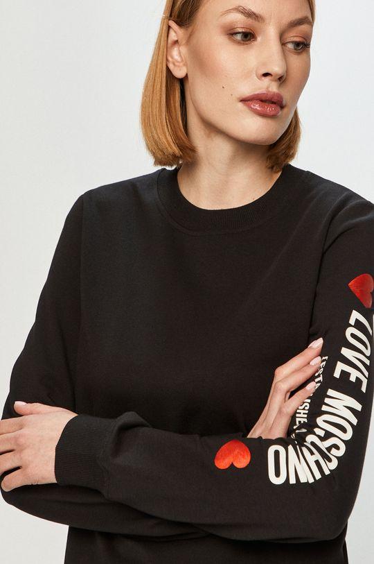 czarny Love Moschino - Bluza