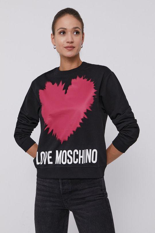černá Love Moschino - Mikina Dámský