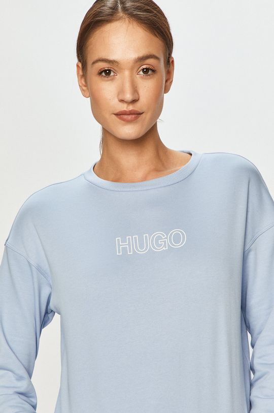 albastru deschis Hugo - Hanorac de bumbac