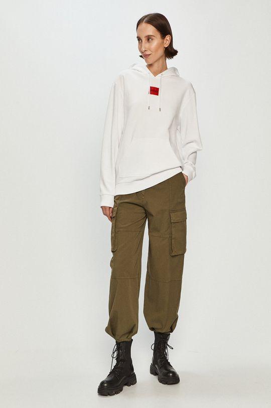 Hugo - Bluza bawełniana biały