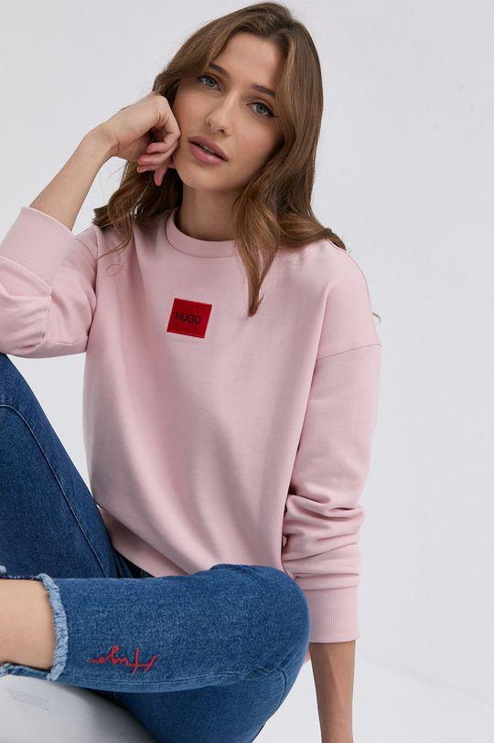 różowy HUGO - Bluza 50455971 Damski