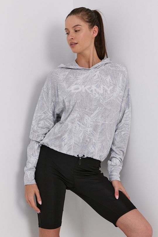 Dkny - Bluza jasny szary